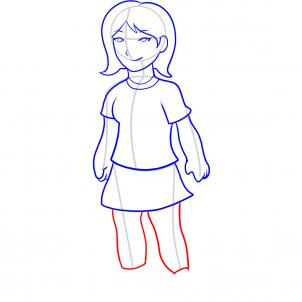 302x302 How To Draw How To Draw A Girl For Kids