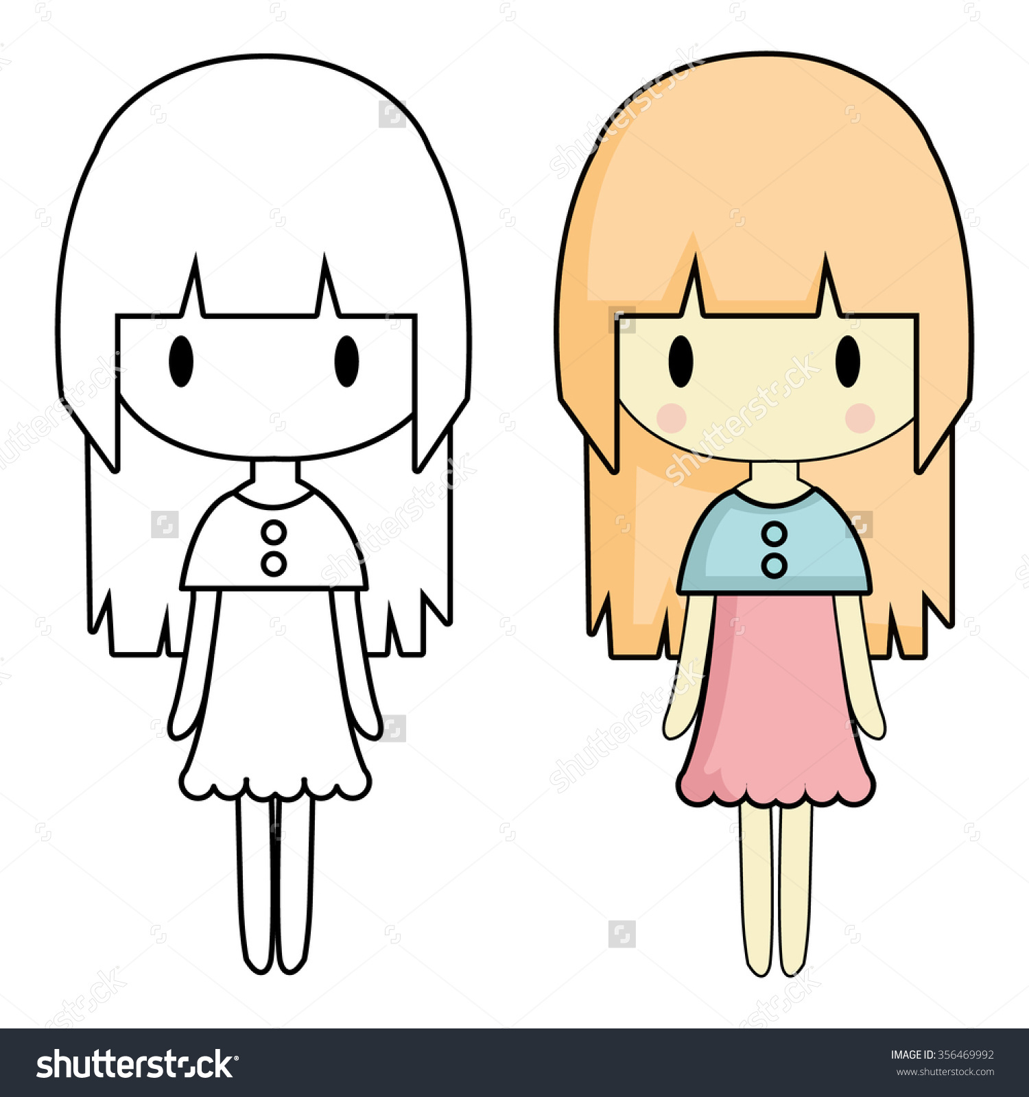 1500x1600 Simple Drawing Of A Girl Simple Drawing Girl Image Different