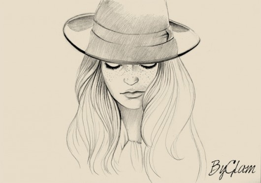 530x372 drawings of women with hats