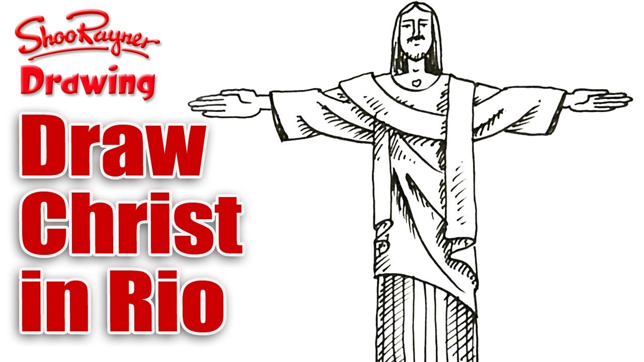 1280x720 How To Draw The Statue Of Christ The Redeemer In Rio De Janero