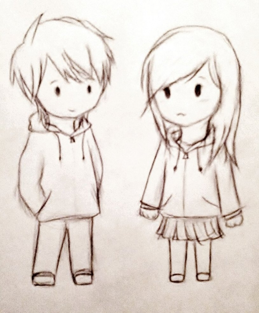 849x1024 Cute Simple Drawing Of Couple Gallery Images Of Cute Easy