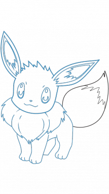 215x382 How To Draw Pokemon Eevee, Anime, Easy Step By Step Drawing Tutorial