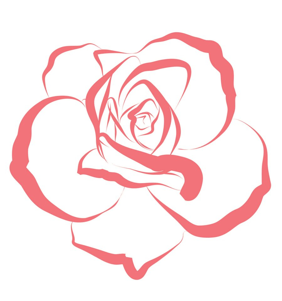 900x961 Best Simple To Draw Rose Art Of 2016