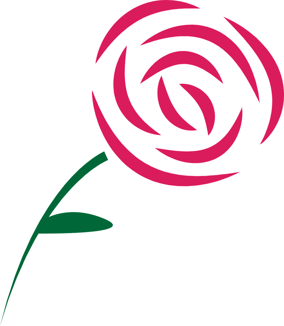 1117x1280 How Draw A Simple Rose 11 Very Simple Examples