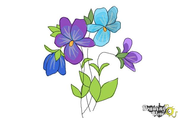 600x400 How To Draw Simple Flowers