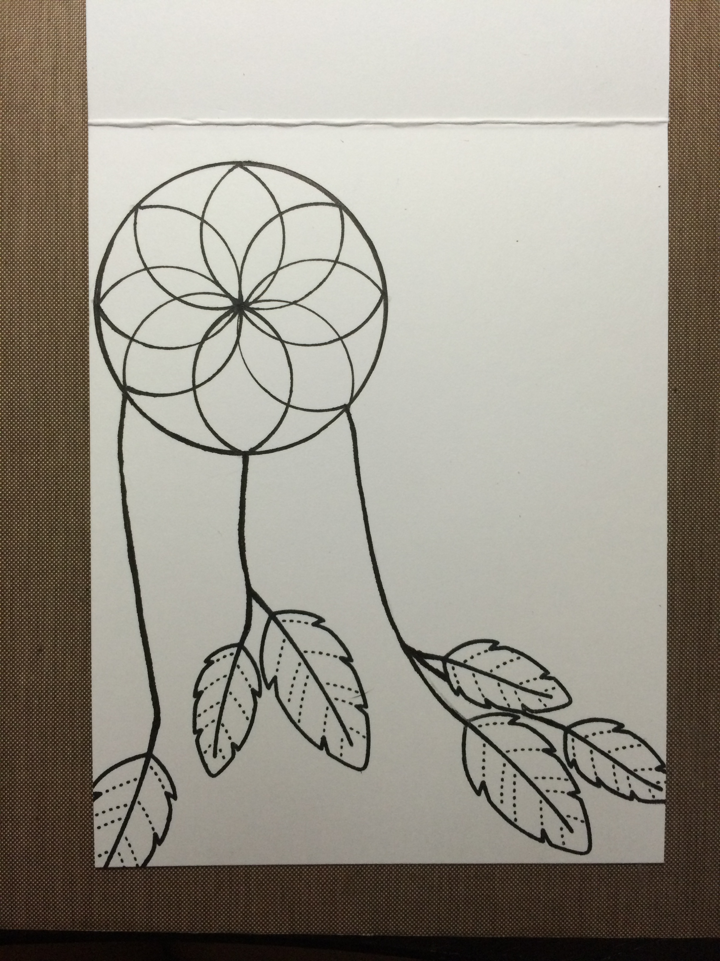 2448x3264 Dream Catcher Drawing Pencil Easy Simple Dreamcatcher Designs
