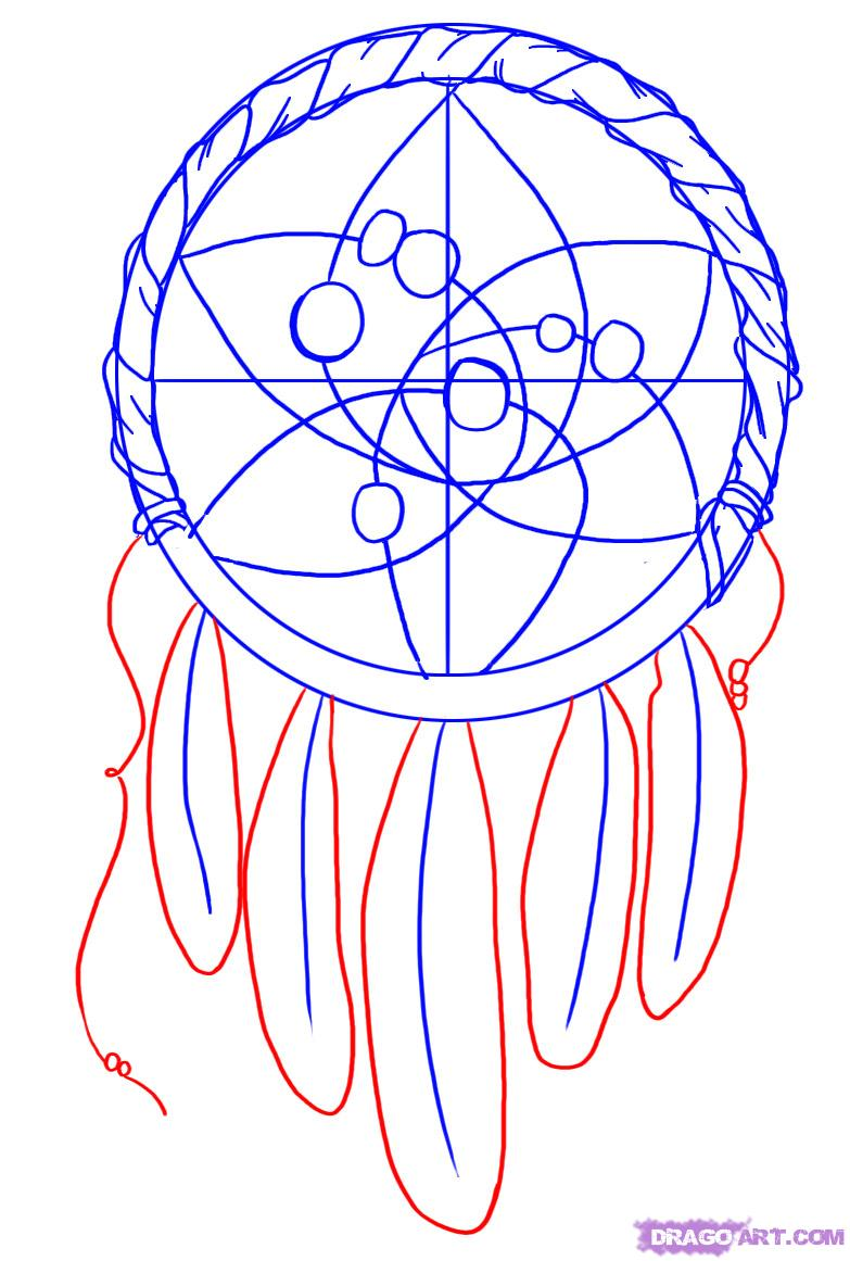 783x1161 Dream Catcher Patterns How To Draw A Dreamcatcher Step 4