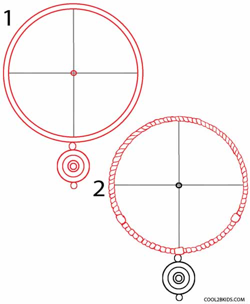 500x607 How To Draw A Dreamcatcher (Step By Step) Cool2bkids