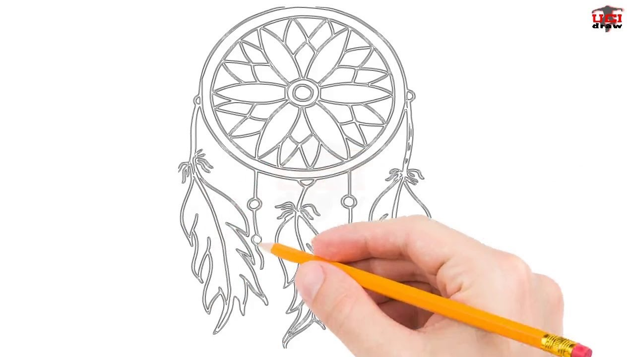 1280x720 How To Draw A Dreamcatcher Step By Step Easy For Beginnerskids