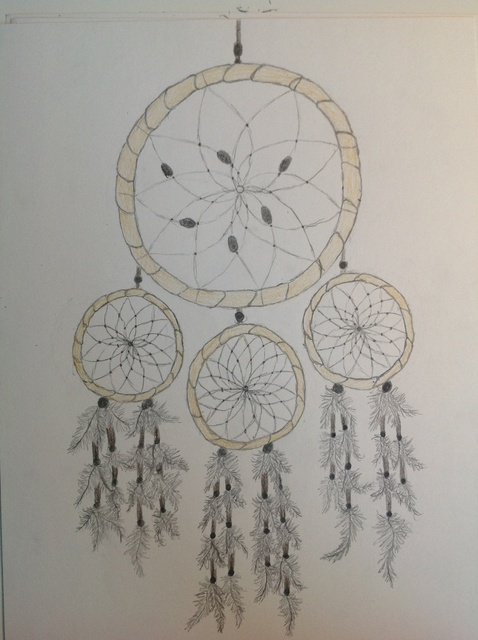 478x640 How To Draw A Realistic Dream Catcher