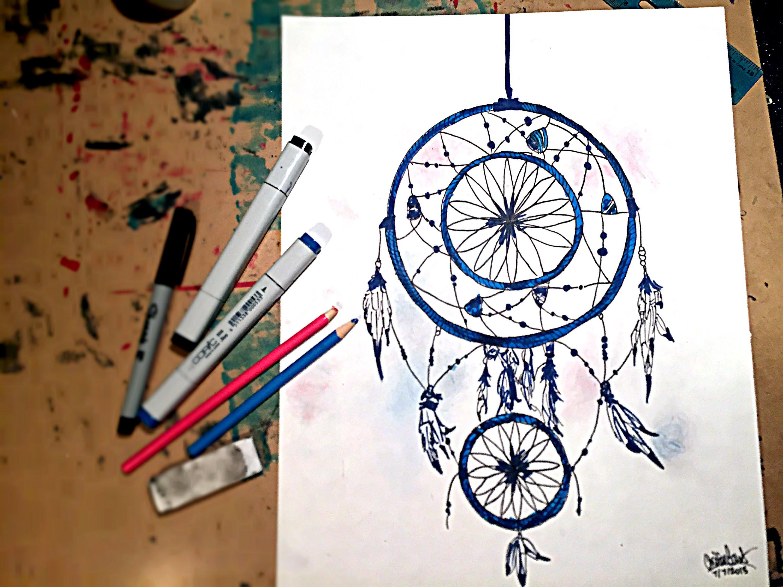 3000x2250 Speed Drawing Simple Dreamcatcher Bluenightart