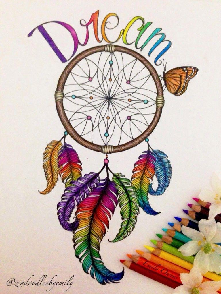 768x1024 Dreamcatcher Drawing