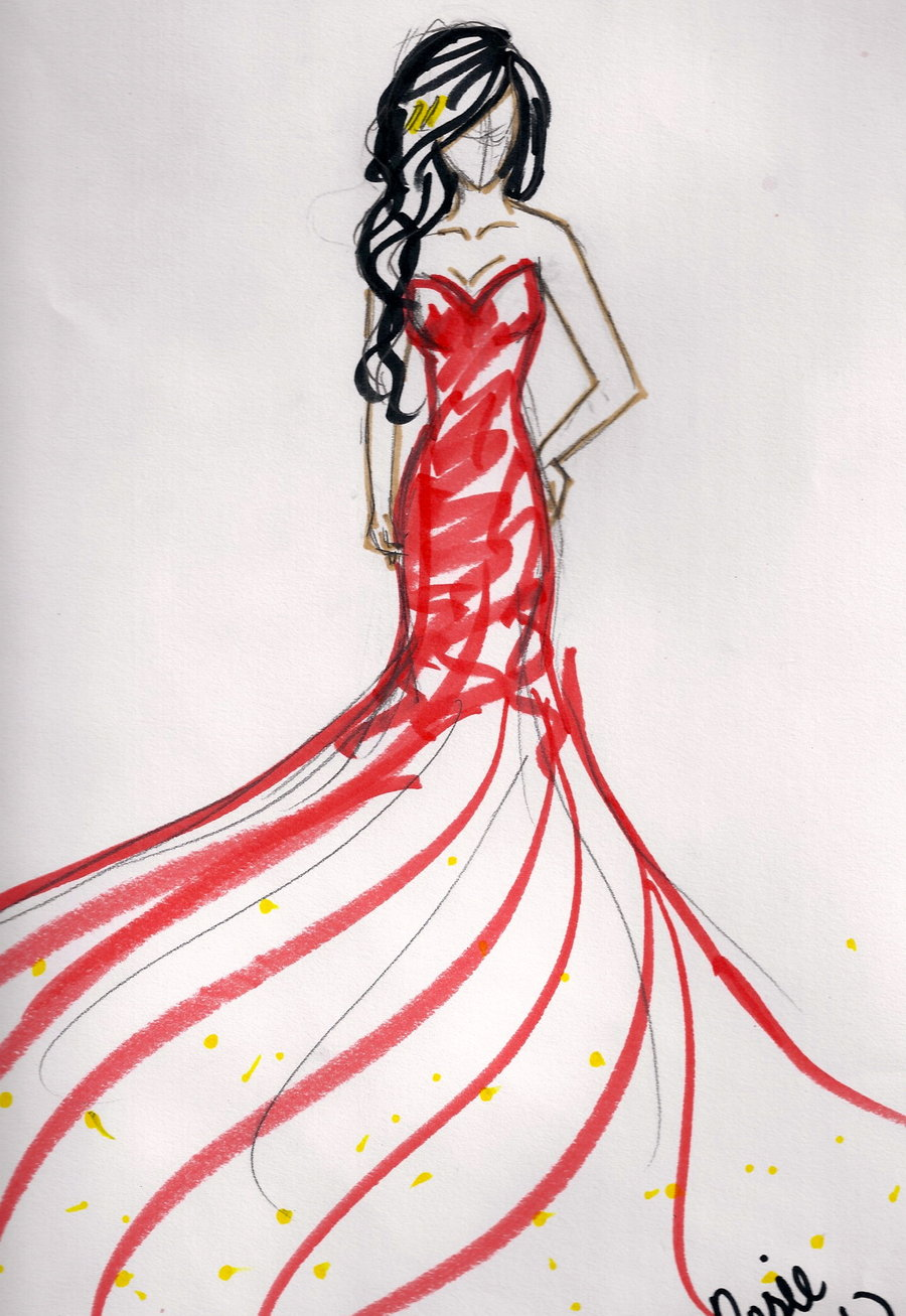 Simple Dress Drawing at GetDrawings | Free download
