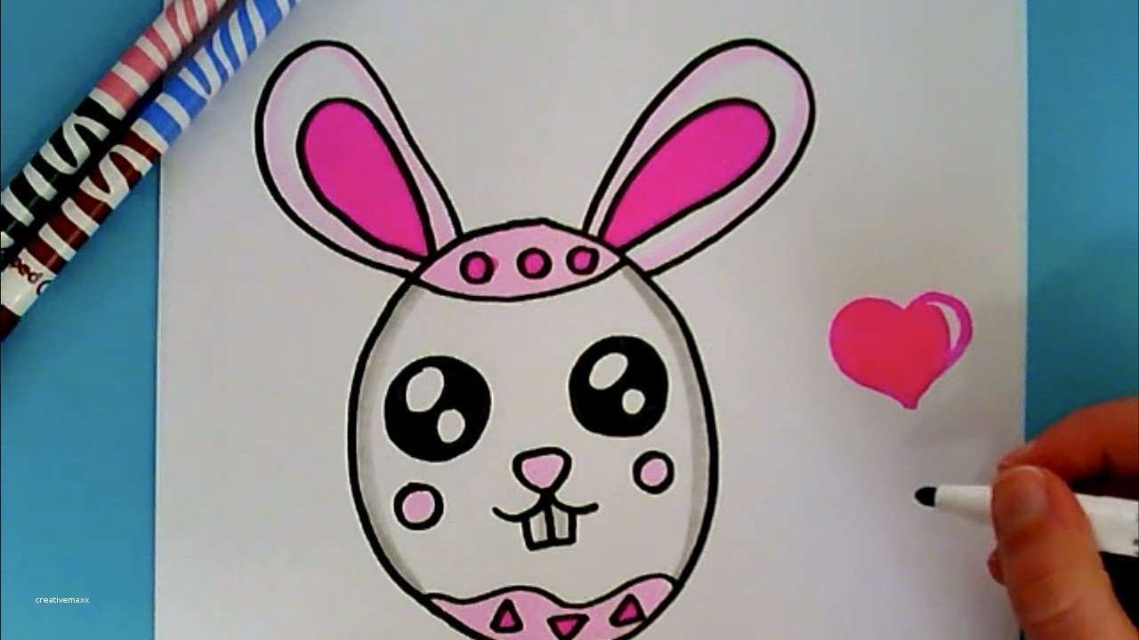 1280x720 Easy Easter Bunny Drawing New How To Draw Cute Bunny Egg Easter