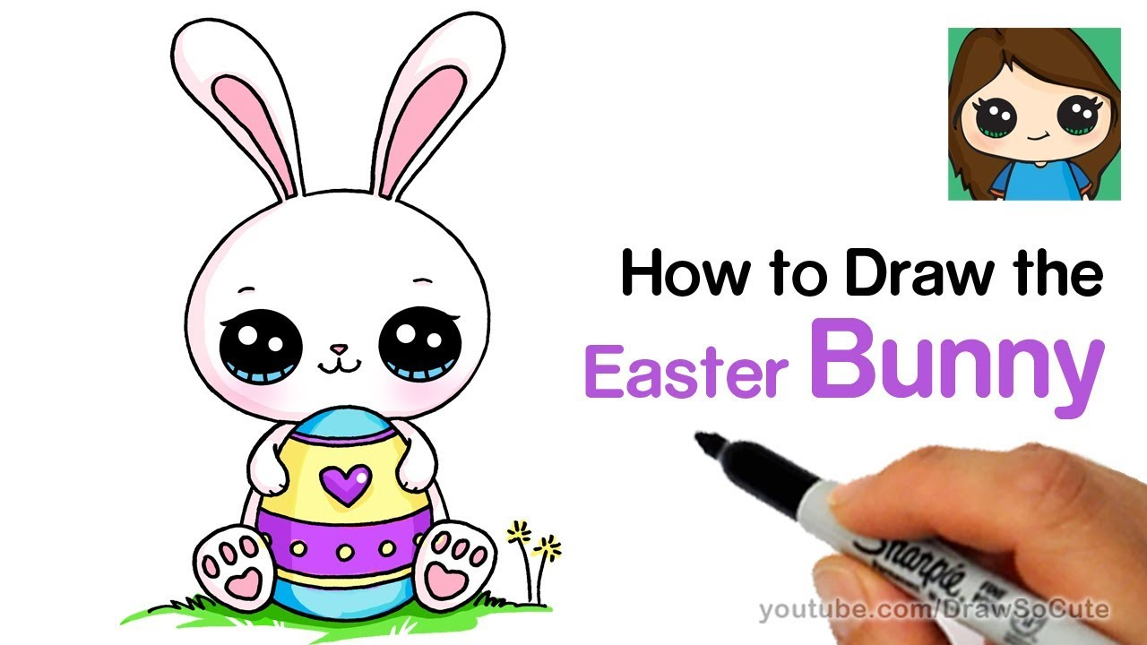 1280x720 How To Draw A Cute Easter Bunny Easy
