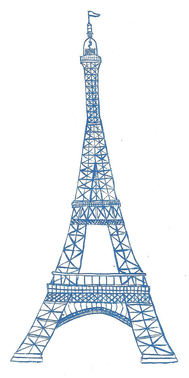803x1600 Eiffel Tower Cartoon Drawing Eiffel Tower Drawing Simple Clipart