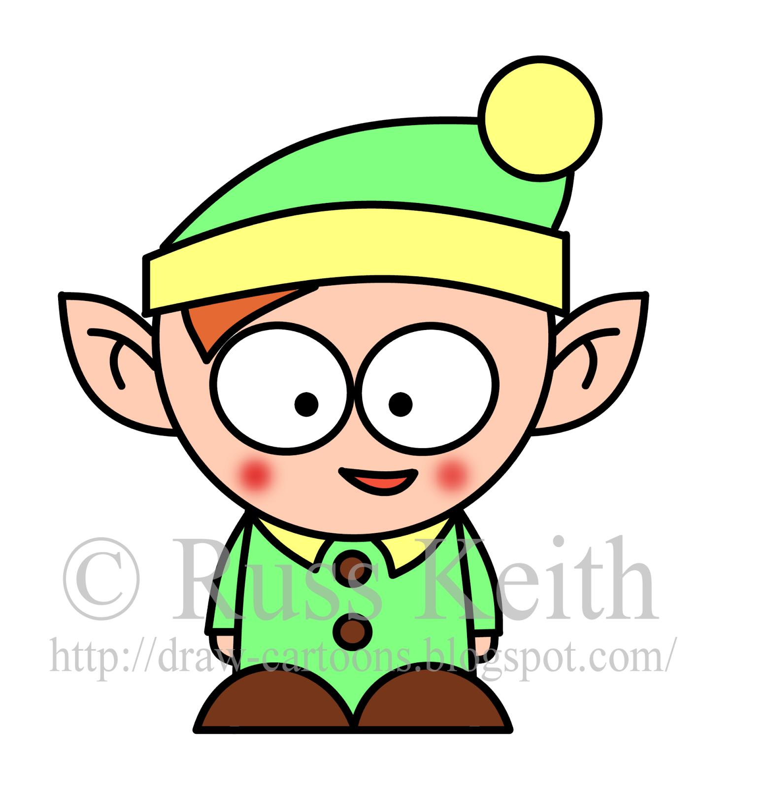 1555x1600 How To Draw Cartoons Christmas Elf Christmas)!!
