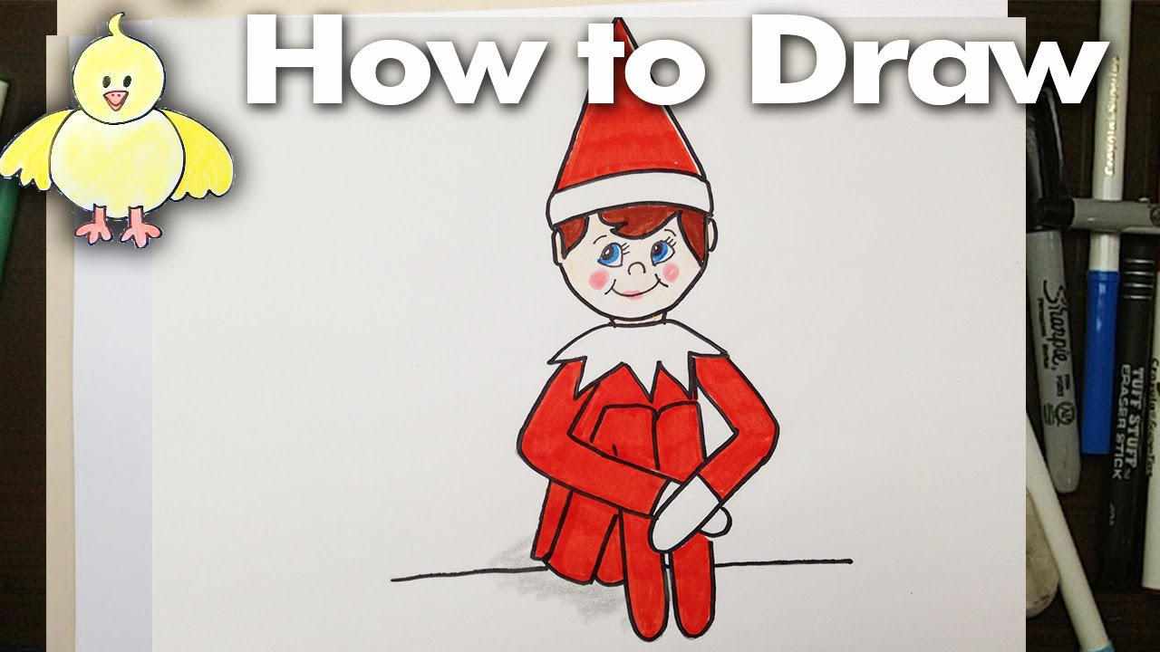 1280x720 How To Draw An Easy Elf On A Shelf For Beginners