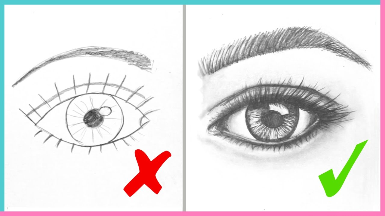 1280x720 Simple Sketch Of Eye Dos Don'Ts How To Draw Realistic Eyes Easy