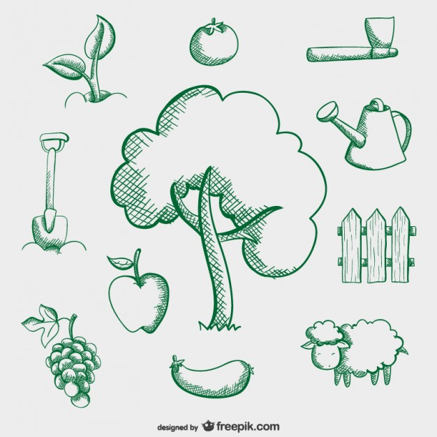 626x626 Farm Simple Drawings Vector Free Download
