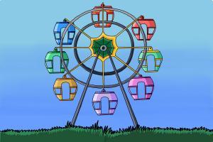 300x200 How To Draw A Ferris Wheel