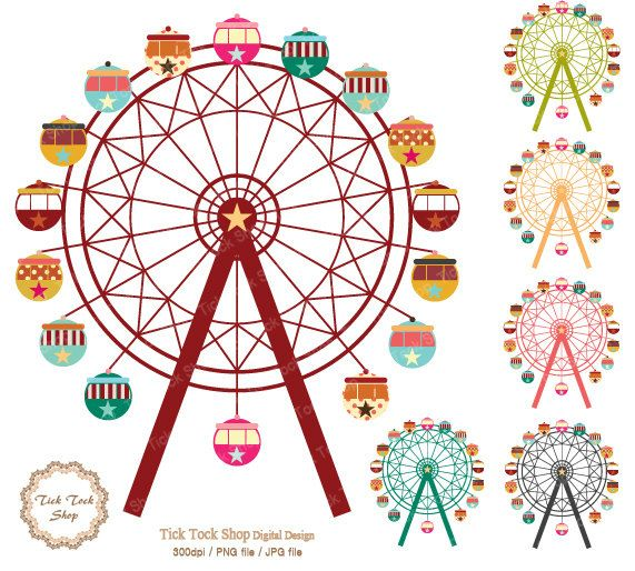 571x514 Ferris Wheel Drawing