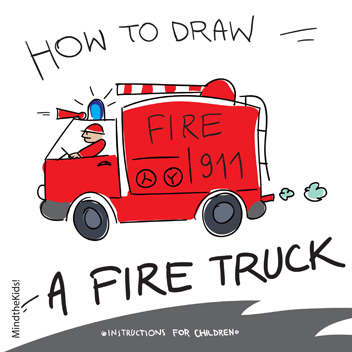 352x352 Mind The Kids How To Draw A Fire Truck