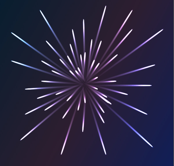 600x573 illustrator tutorial how to create colorful vector fireworks