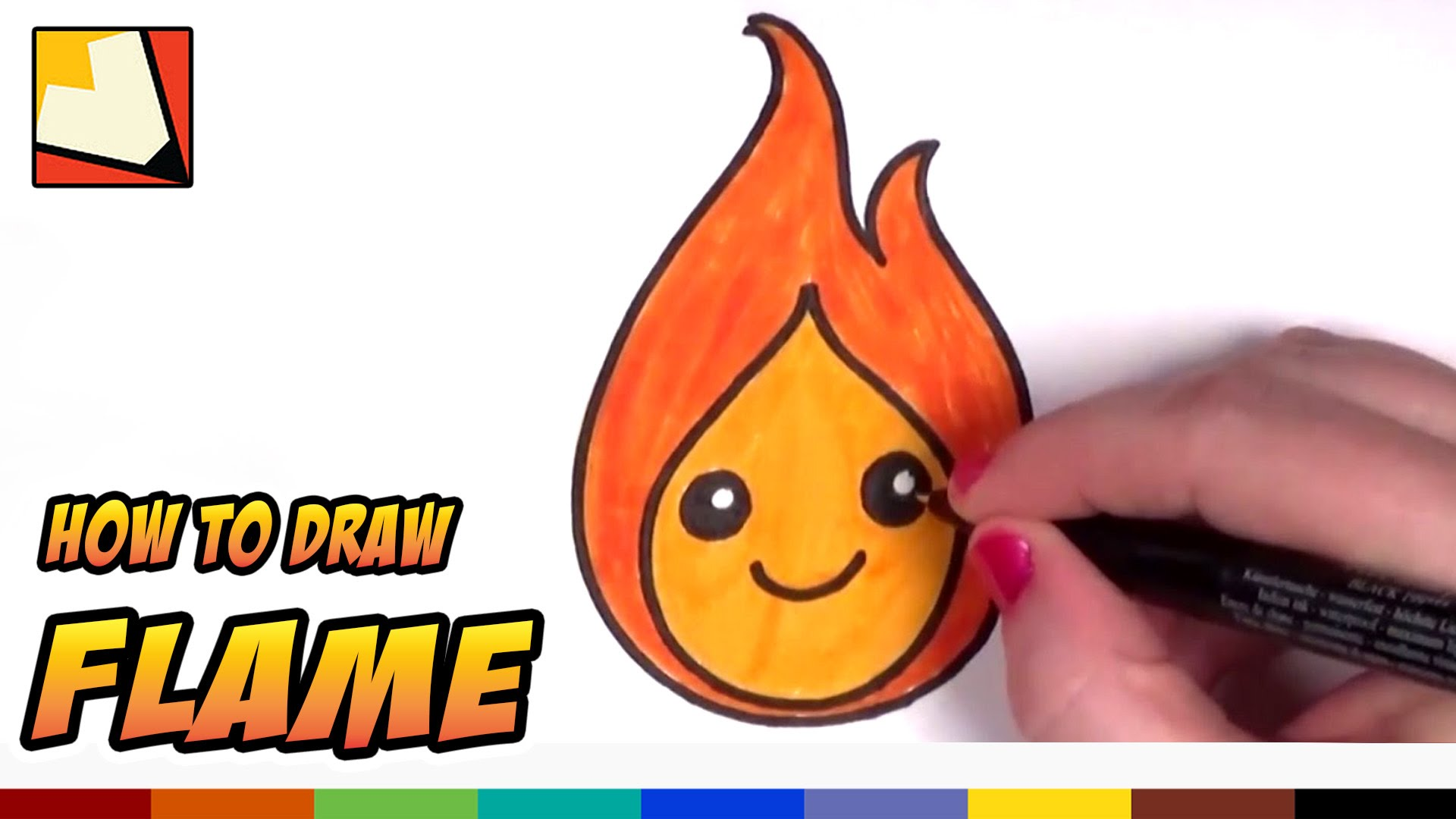 1920x1080 How To Draw A Cute Flame For Kids Cc