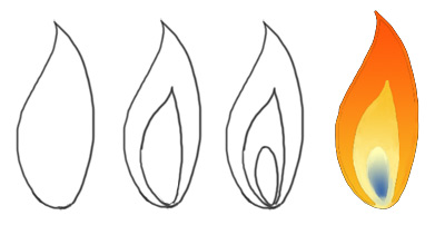 391x211 To Draw Flames Step By Step