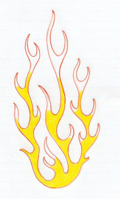 423x701 To Draw Flames