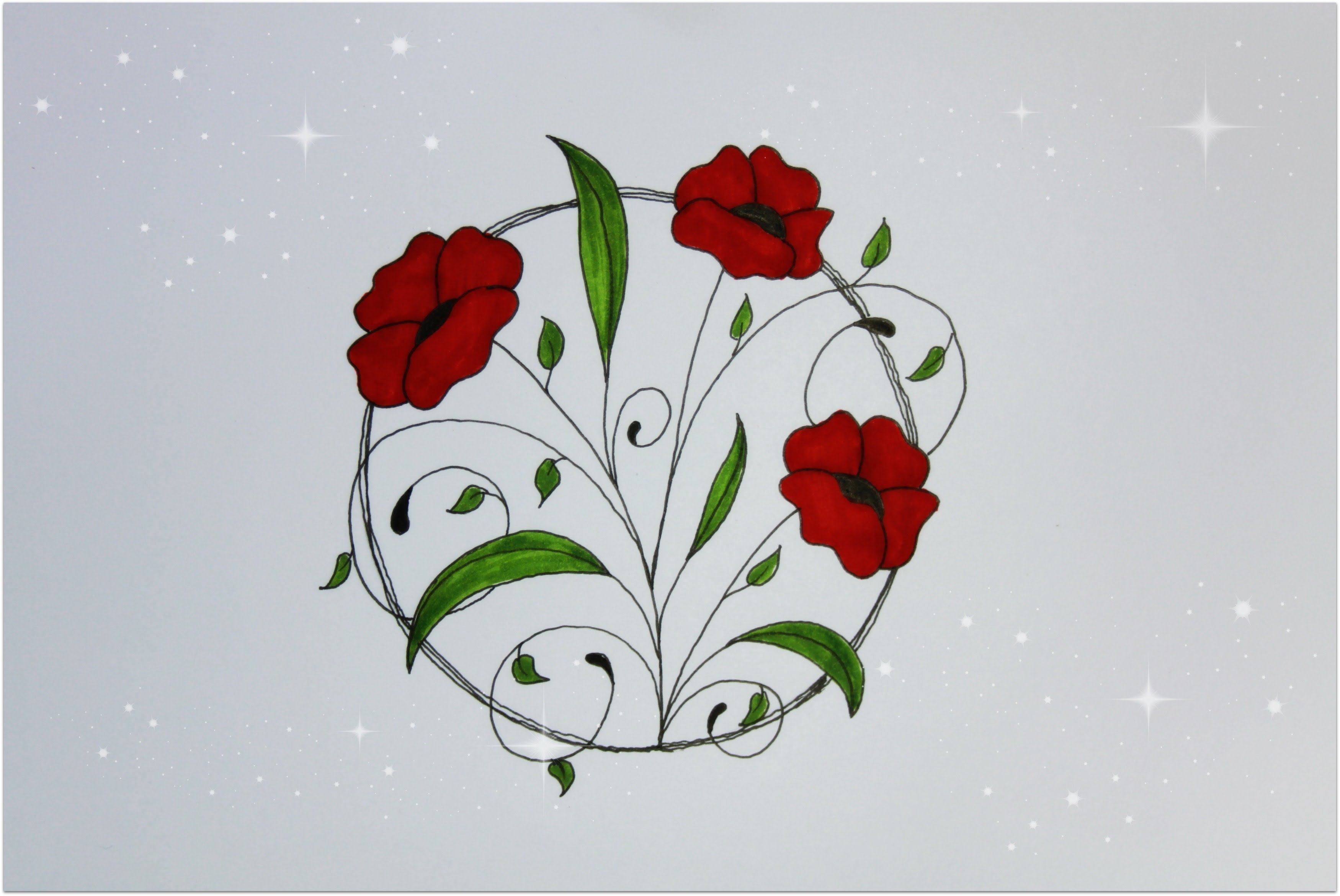 Simple Floral Drawing at GetDrawings.com | Free for personal use ...