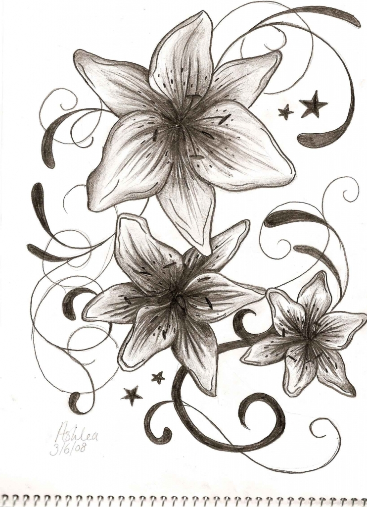 742x1024 simple flower designs pencil drawing flower drawing in pencil