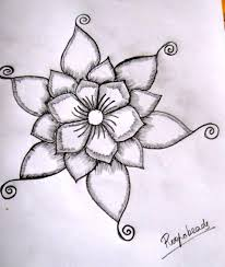 206x244 Simple Pencil Drawing Images Of Flowers