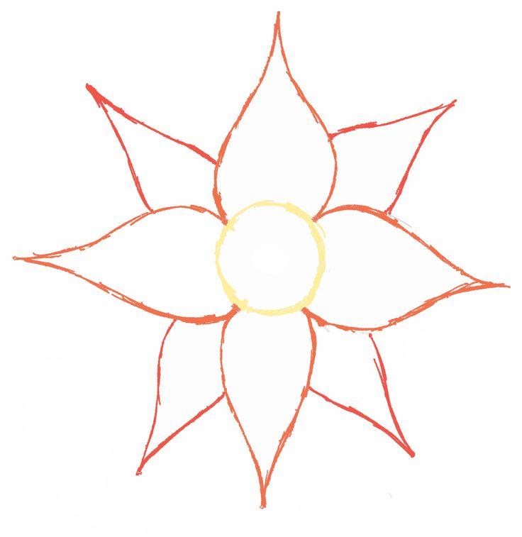 Simple Flower Drawing At GetDrawings