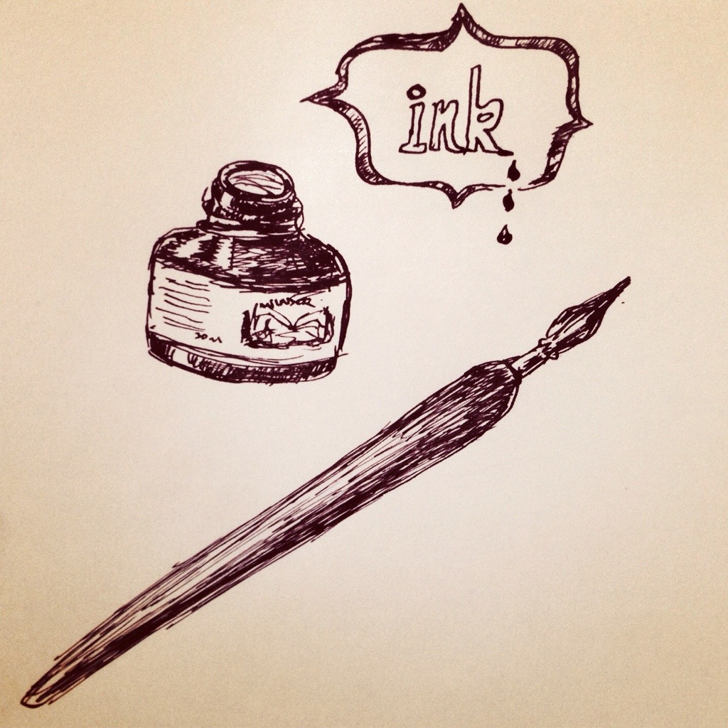 1024x1024 Simple Pen Drawing It Begins With A Simple Fountain Pen What I