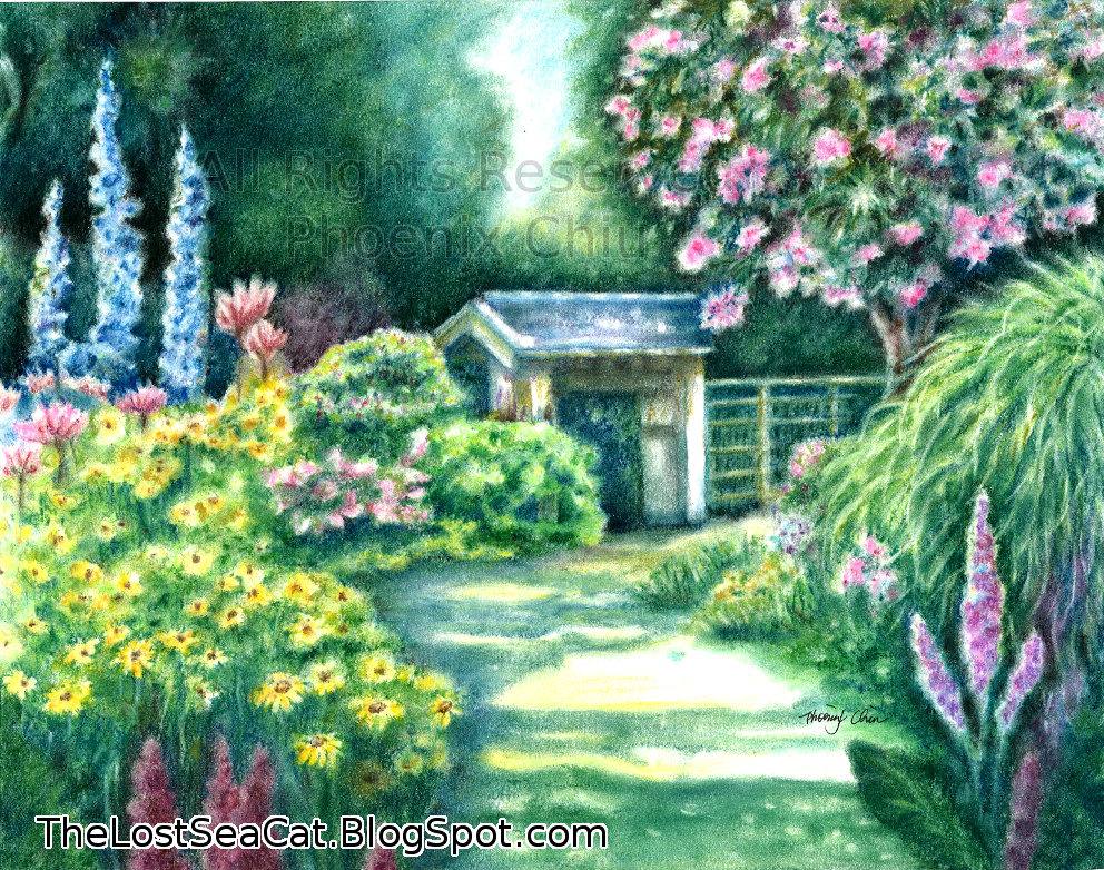 992x782 Nice Decoration Simple Garden Drawing