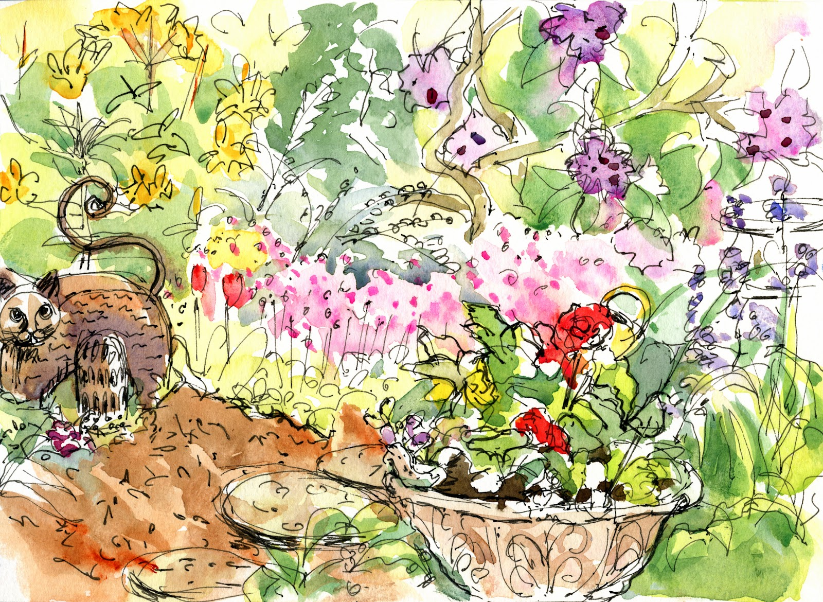 1600x1170 Whidbey Island Sketchers Barbara Amp Mary39s Lyrical Garden