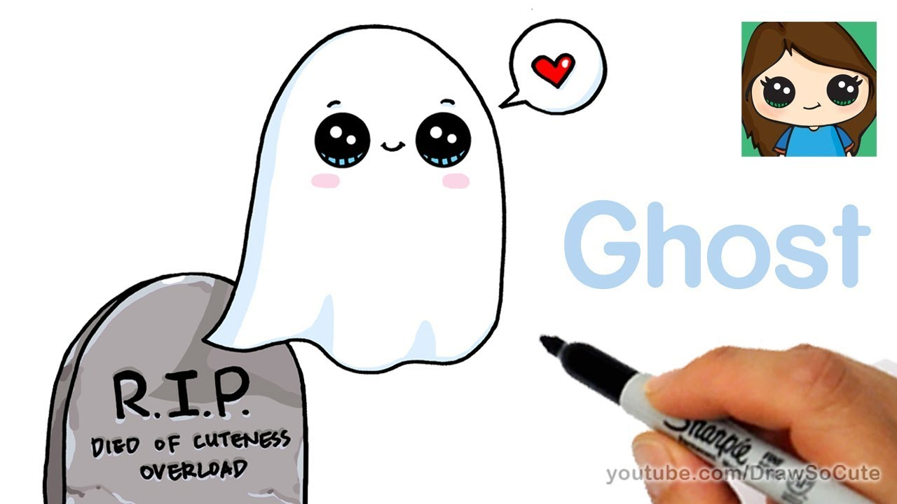 1280x720 How To Draw A Ghost Super Easy