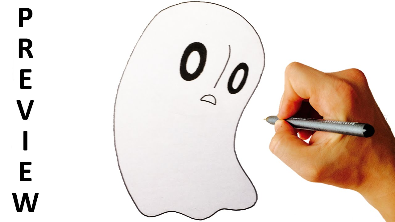 1280x720 How To Draw Napstablook From Undertale Easy Step By Step Drawing