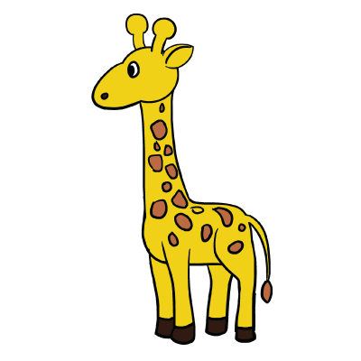 simple giraffe drawing at free for