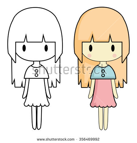 450x470 Gallery Drawing Simple Girl,