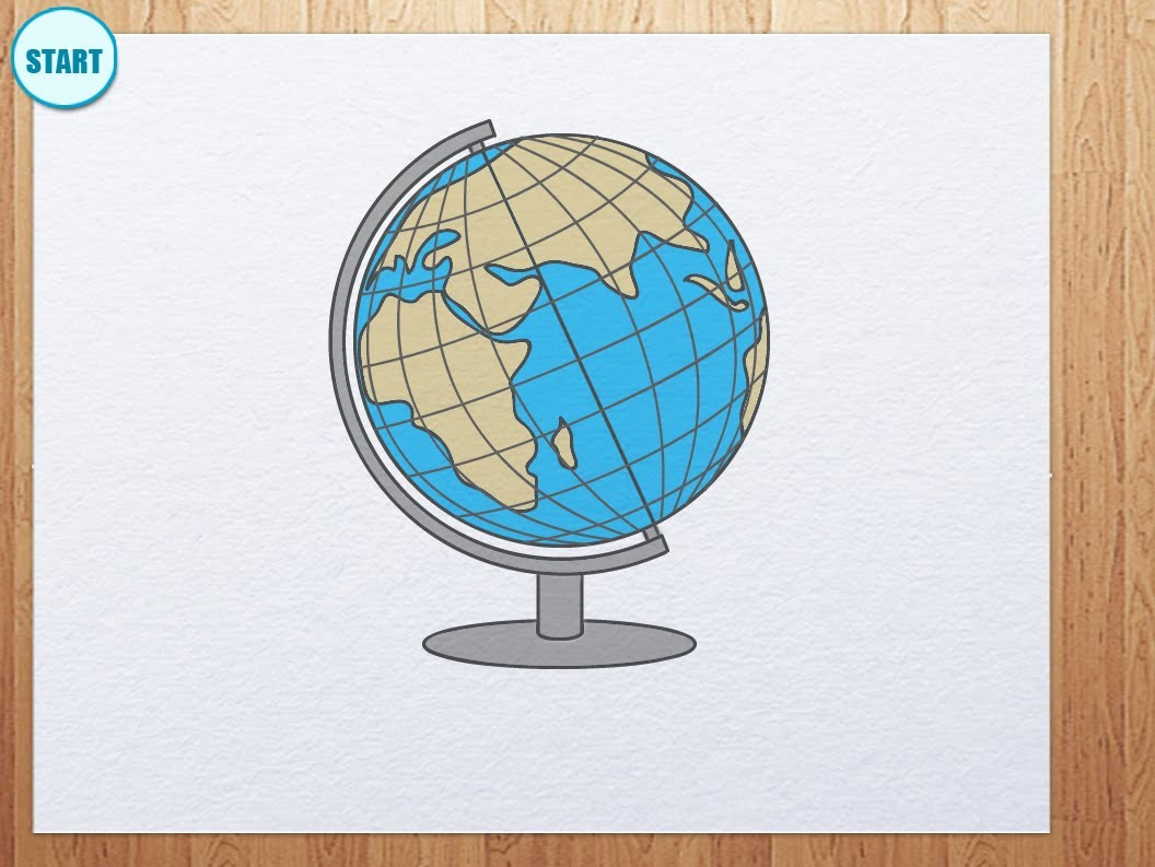 1056x793 How To Draw Globe