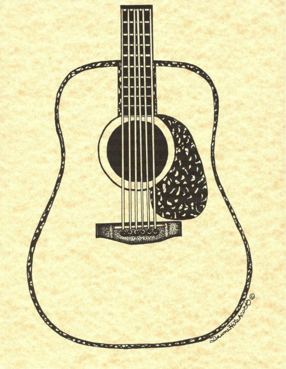 simple guitar drawing at getdrawings com free for personal use