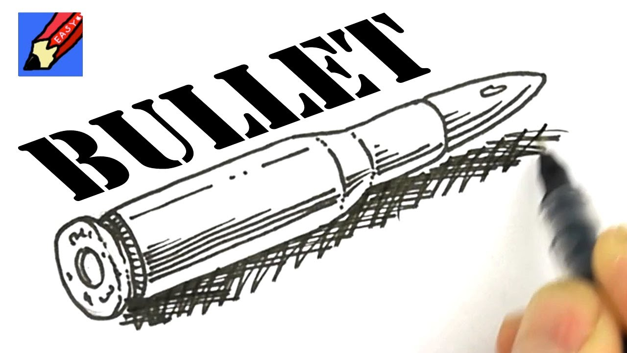 1280x720 How To Draw A Bullet