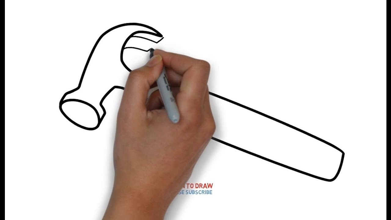 1280x720 How To Draw A Hammer For Kids Step By Step