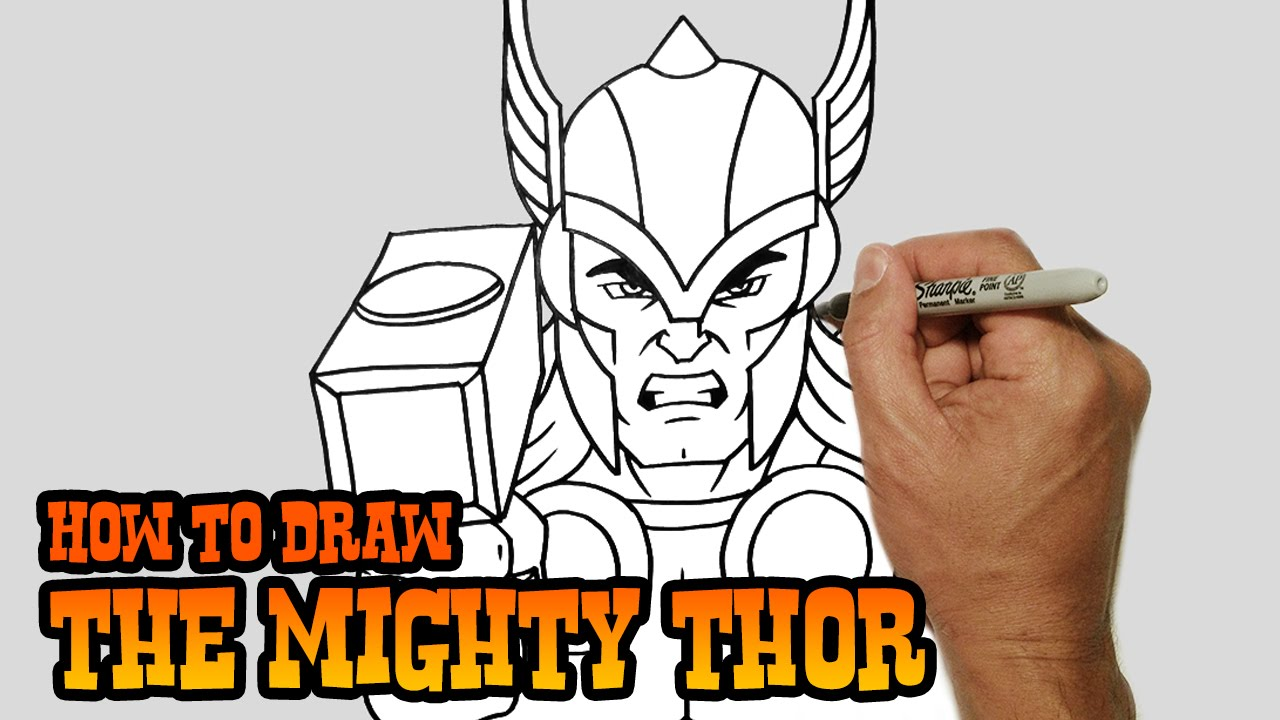 1280x720 How To Draw Thor Simple Video Lesson