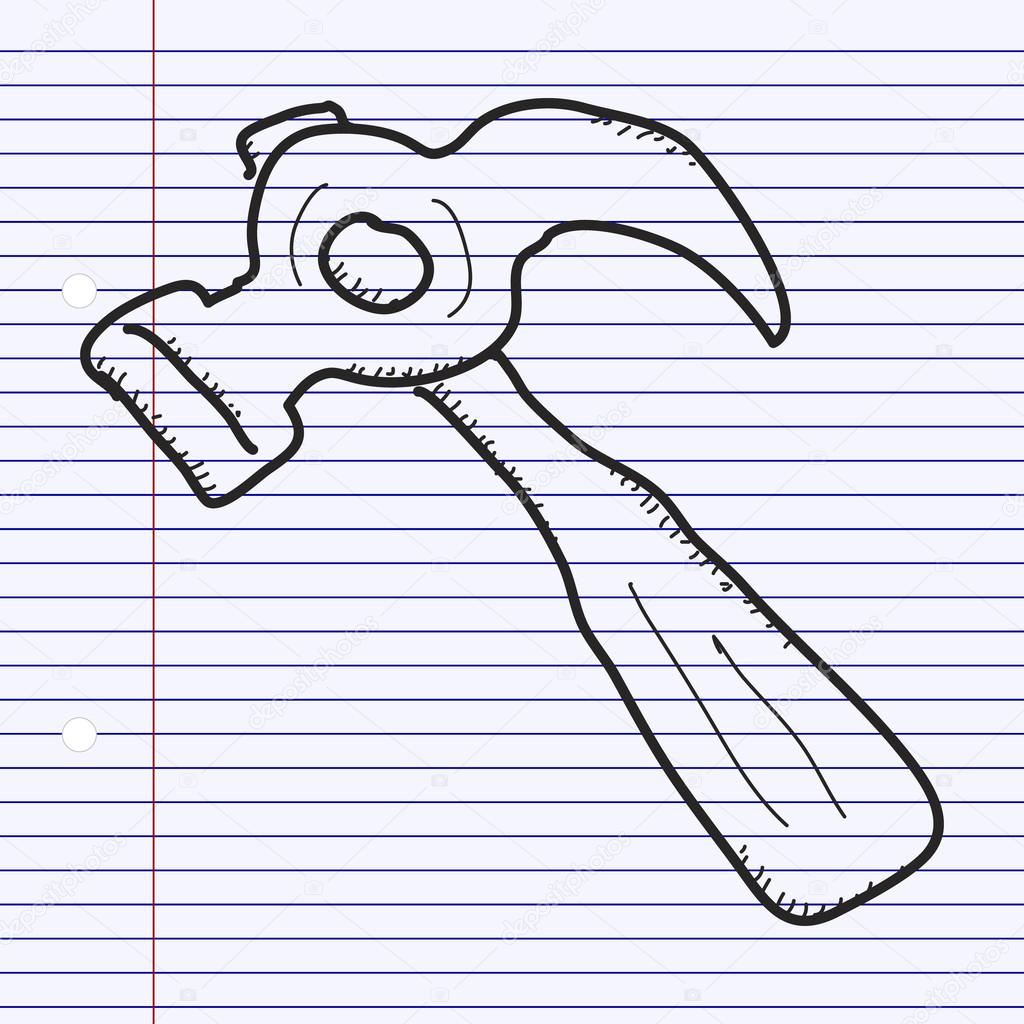 1024x1024 Simple Doodle Of A Hammer Stock Vector Chrishall