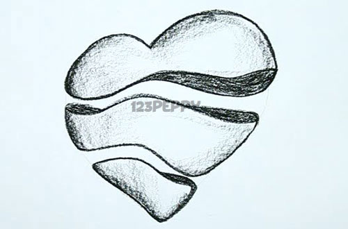 500x330 Pictures Of Heart Drawings