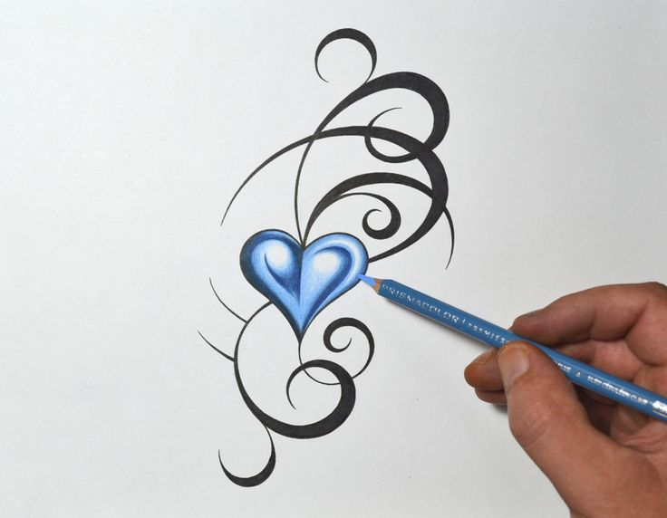 736x572 Simple Heart Tattoo Designs For Men Group